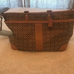 NWT Coach baby bag. Beige and brown.